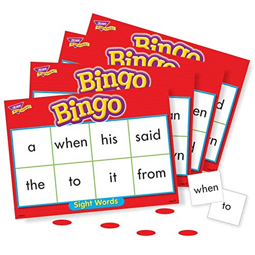 Trend Enterprises Sight Words Bingo - Set of 46 Words and 36 Playing ()