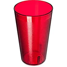 Carlisle 523210 Stackable Restaurant Quality SAN Tumbler, Break-Resistant BPA Free Plastic, 32 oz, Ruby Red (Pack of 24)