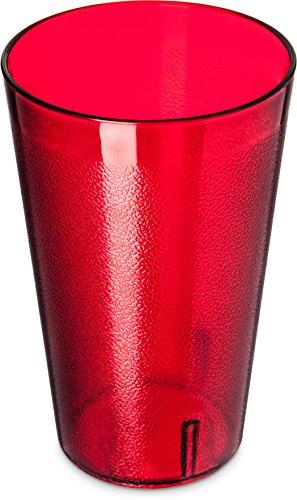 Carlisle 523210 BPA Free Stackable Shatter-Resistant Plastic Tumbler, 32 oz., Ruby (Pack of 24)
