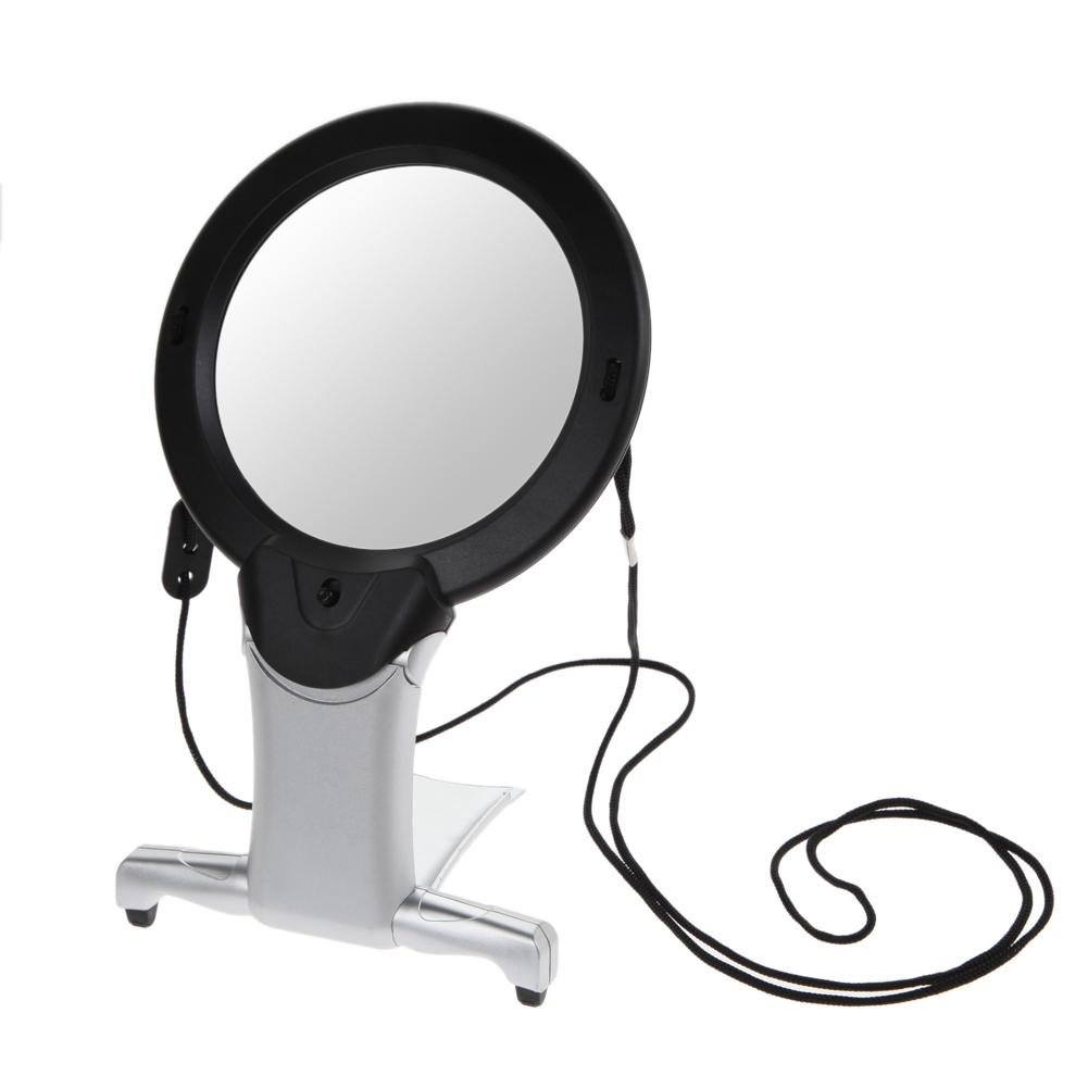 Hands Free Magnifying Glass with Light Neck Cord LED Illuminated Magnifier for Reading Hobbies Sewing Craft Work TTnight