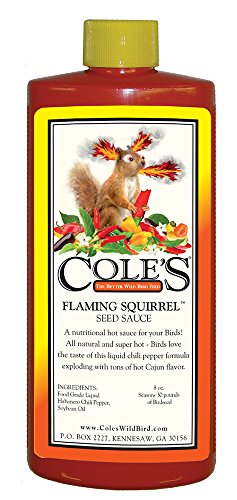 Cole's Wild Bird Products FS08 Flaming Squirrel Seed Sauce, 8-Ounce