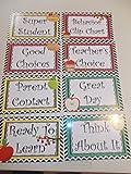 apple behavior chart - 8 Laminated Apple themed Behavior Clip Chart Cards.