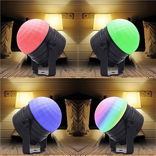 ZCPlus Crystal Ball Party Lights Disco Light Sound Activated LED Night Light RGB Strobe Lights for Kid KTV Wedding Club Pub Disco DJ Lighting ...