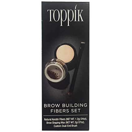 Amazon.com: Toppik Brow Edificio Fibra, Medium Brown, 0,2 g ...