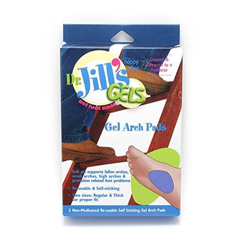 Jills Gel Metatarsal Cushion - Dr. Jill's Purple Gel Arch Pads, 1/8