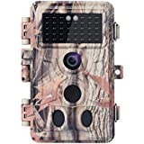BlazeVideo No Glow Game Trail Camera 16MP HD 1080P IP66 Waterproof 120° 2-PIR Motion Activated Sensor 0.2S Trigger Deer Hunting Cam for Capturing Wildlife NO Flash Infrared 65ft Night Vision 2.4 LCD