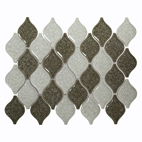 Jeffrey Court 75002 Crystal Pine Mosaic Tile, Glass, 12.7...