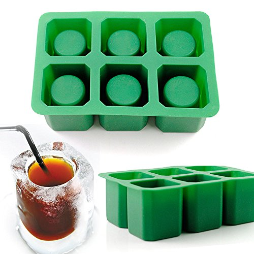 Dragon Advance Ice Cube Shot Glass Tray Silicone Mold Cool Shooters Jello Mould 6 Cups Square