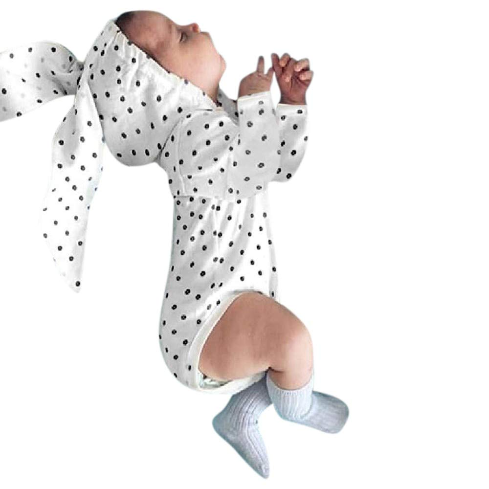 POIUDE Clearance Boy Clothes Baby Boy Girl Long Sleeve Bunny Ear Polka Dot Printed Hooded Romper Outfits POIUDE-baby clothes