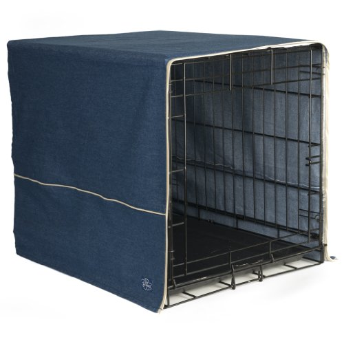 Pet Dreams- Dog Crate Cover- Denim  Blue- X-Large (Extra Large Dog Crate Covers)