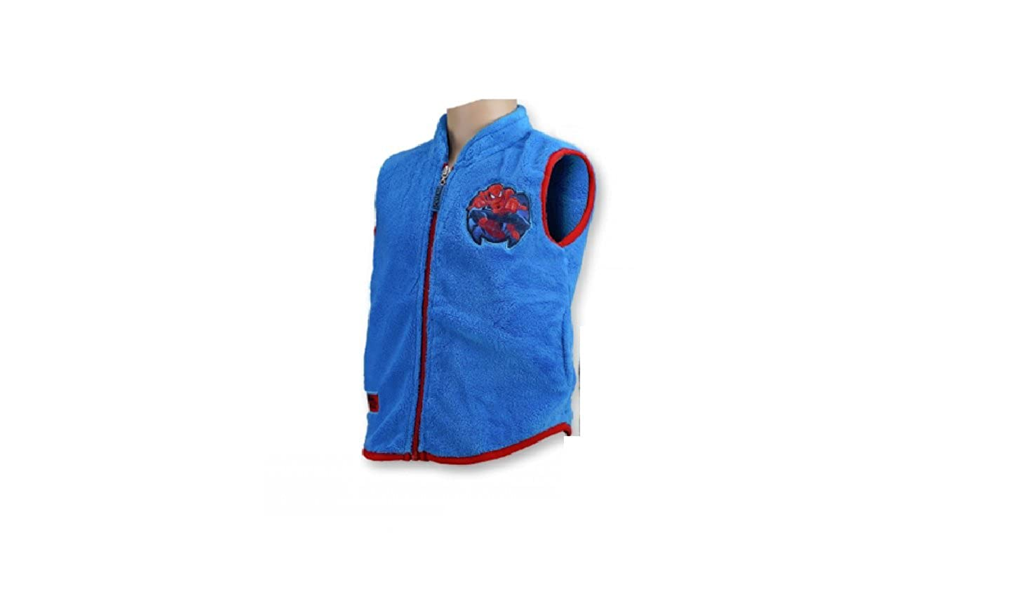 Character Spiderman Light Blue Vest 100% Polyester Clothing