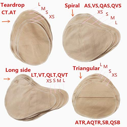 2 Pairs Cotton Protect Pocket For Mastectomy Silicone Breast Forms Cover Bags for Prosthesis Artificial Fake Boobs