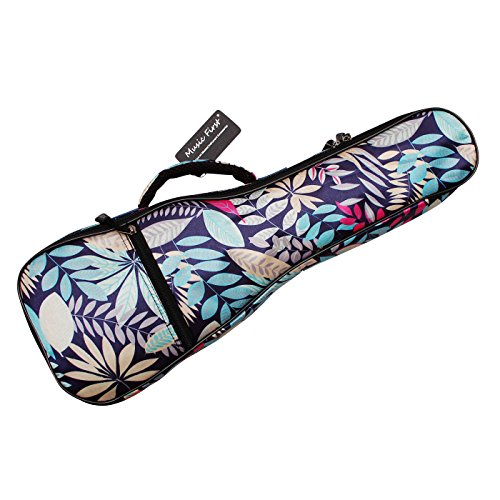 MUSIC FIRST Nylon 26″ Tenor Summer Leaves Ukulele Bag Ukulele Cover Ukulele Cases Version 2.0