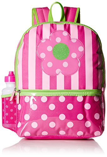 Pink Platinum Girls' Dots and Stripes 16 inch Backpack with Lunch Kit, - Pink And Kids