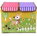 Uberlyfe Kids Toy Storage Box Cum Organizer - Double Flap - Deer (KSB-44)