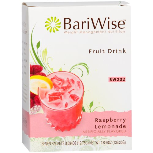 BariWise High Protein Powder Fruit Drink (15g Protein) / Low-Carb Diet Drinks - Raspberry Lemonade (7 Servings/Box) - Fat Free, Low Carb, Low Calorie, Sugar Free