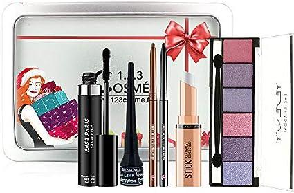 Estuche de maquillaje de Noel – 6 esenciales de maquillaje en una recinto Box especial Navidad: Amazon.es: Belleza