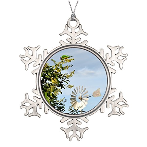 Silently Queensland Tree Branch Decoration Windmill Australia Halloween Tree Snowflake Ornaments -