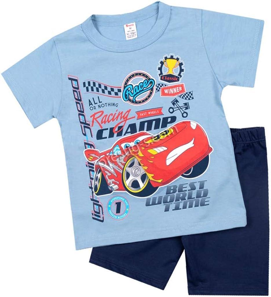 Ensemble pyjama manches courtes Bleu Pyjama pour enfant gar/çon Pat V/êtements de nuit 100/% coton Pyjama