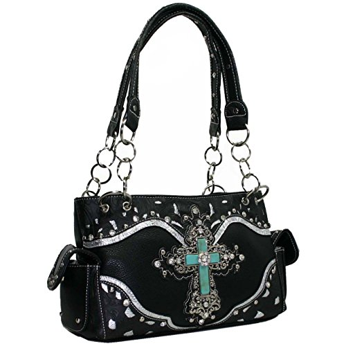 Buy rhinestone cross purse sets