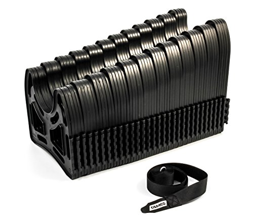 : Camco 30ft Sidewinder RV Sewer Hose Support, Made From Sturdy Lightweight Plastic, Won't Creep Closed, Holds Hoses In Place - No Need For Straps