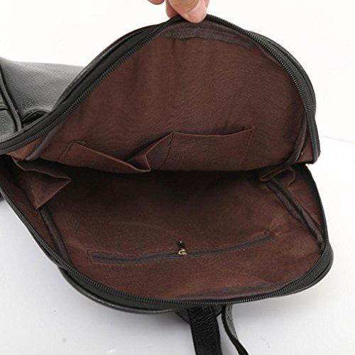 Bag PU Waterproof Gray pocket Multi Preppy Shoulder Bags Softback Backpack Style Leegor RAn6wBqvxA