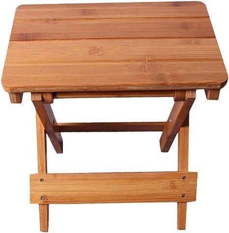 Portable Bamboo Folding Stool for Fishing Home Bedroom Kitchen Garden Step Stool Folding Step Stool