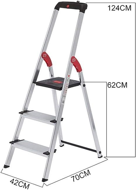MJY Escalera Multipropósito de Tres Pasos, Escalera Portátil Escalera de Metal de Doble Uso Taburete Escalera de Ingeniería Doméstica Varios Estilos Capacidad de Carga: 150 Kg,Si: Amazon.es: Bricolaje y herramientas
