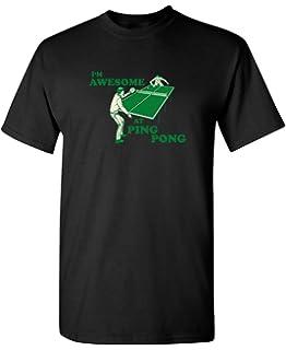 Amazon.com: Ping Pong Retro Vintage 80s Style - Camiseta de ...