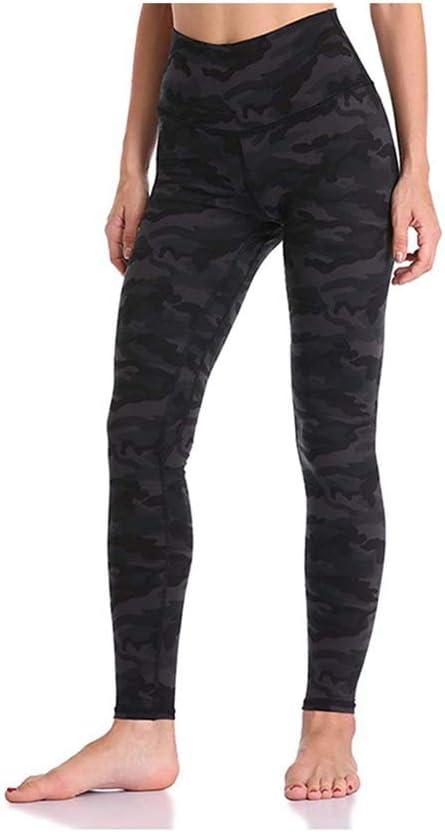 BWCX Leggings De Gimnasia para Mujer Pantalones De Yoga De Cintura Alta Pantalones Largos Deportivos De Camuflaje para Correr