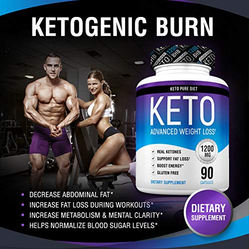 Keto Pure Diet Pills - Ketogenic Diet Supplement - Boost Energy and Metabolism - Keto Slim Supplement for Men and Women - 90 Capsules by Keto Pure Diet (Image #6)