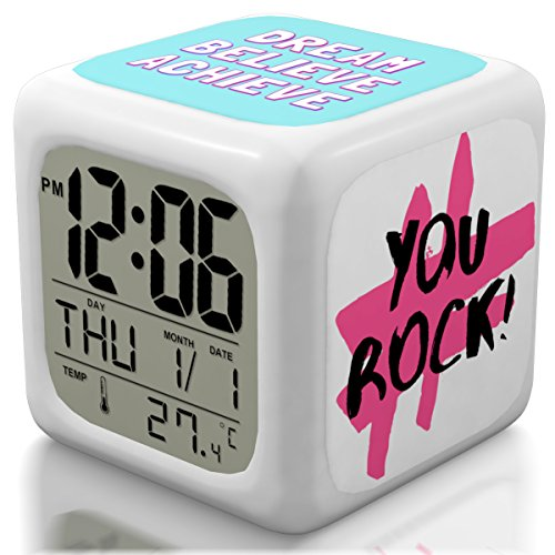 New 2018 Model Alarm Clock - Upgraded Digital Display Model for Kids, Teens & Adults - Today Get 100% - Clocks for Home and Travel, Work for Heavy Sleepers - Limited Edition