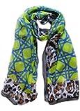 Echarpe mousseline, 180cm X 70cm. Couleur vert, bleu marine, noir, blanc, marron.