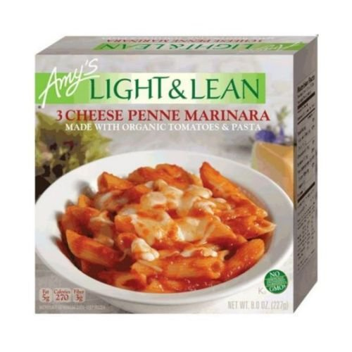 Amys Organic Light and Lean 3 Cheese Penne Marinara, 8 Ounce Bowl -- 12 per case. by Amy's (Image #1)