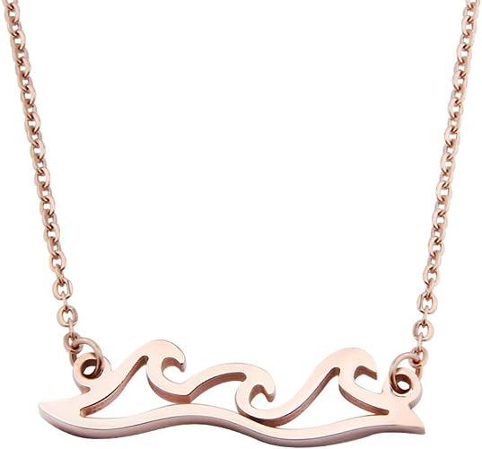 Stainless Steel Bracelets Women Men Sea Wave Bracelet Beach Surfer Gift Hawaii