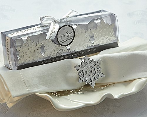 Artisano Designs Winter Wishes Holiday napkins rings Snowflake