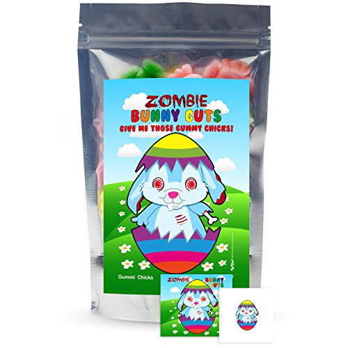 Zombie Bunny Guts Gummy Chicks - Funny Gag Birthday Girl, Boy and Teens ()