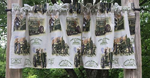 Family Farm Tractor Scenes Farmhouse Cotton Farm Curtain Valance