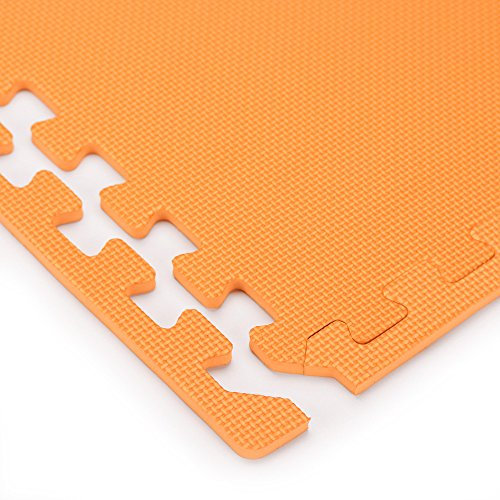 We Sell Mats Orange 16 Square Ft (4 Tiles + Borders) Foam Interlocking Floor Square Tiles by We Sell Mats (Image #4)