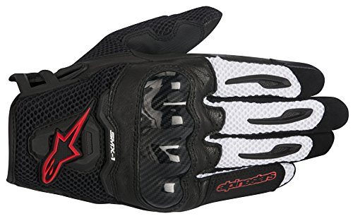 Alpinestars SMX-1 Air Men's Street Motorcycle Gloves - Black/Red / Large