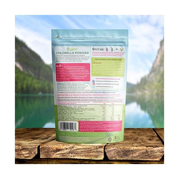 Polvere di Clorella Bio di TheHealthyTree Company per Succhi e Frullati - Alto Contenuto di B12, Proteine e Ferro - Muro… 6 spesavip