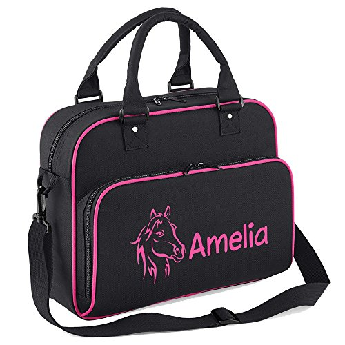with Bag Fuchsia iClobber Name Black Your Head Pony Personalised CBxqaP