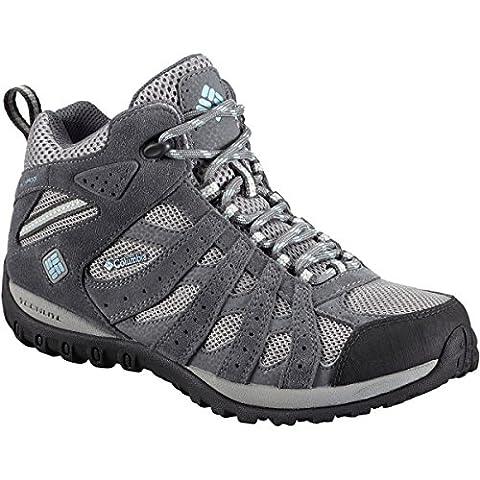 Columbia Women's Redmond Mid Waterproof Hiking Boot, Light Grey, Sky