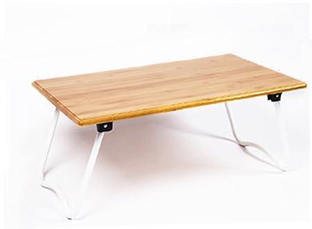 HBJP Simple Cama Mesa portátil Plegable Mesa pequeña Escritorio ...