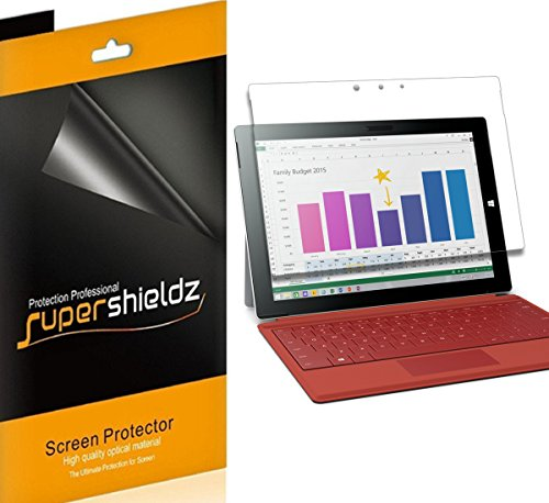 (3 Pack) Supershieldz Anti Glare and Anti Fingerprint (Matte) Screen Protector for Microsoft Surface 3