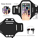 Armband for iPhone, VCOO Ultra Thin Soft Running