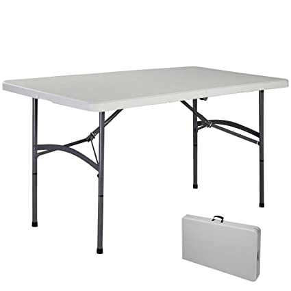 Blitzzauber24 Table Pliante Portable Table de Camping Valise Jardin 122cm  150cm