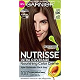 Garnier Nutrisse Ultra Coverage Nourishing Hair Color Creme, #500 Glazed Walnut (Pack of 2)