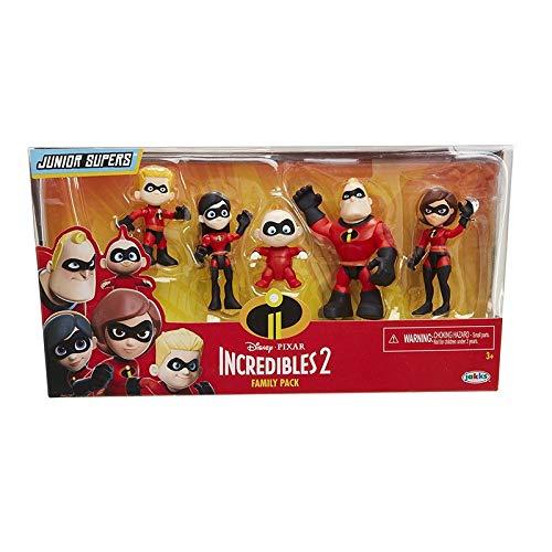 2 Styles 5pcs/lot The Incredibles Action Figures Super Man Dash Parr Jack Elastigirl PVC Model -