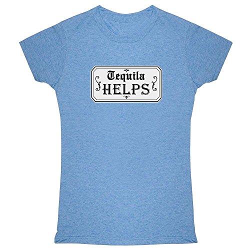 Helps Heather Blue L Womens Tee Shirt ()